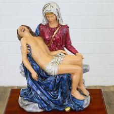 HEILIGENFIGUR große Pietà MATER DOLOROSA ca.60x44x28cm Leidensmutter MARIA FIGUR