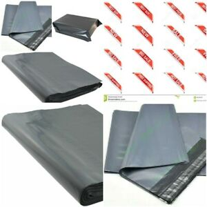 Grey Mailing bag Self Seal Bags Strong Durable Graded Material 17 x 22 & 20 x 26