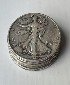 [Lot of 5] Walking Liberty Half Dollar - 90% Silver - Choose How Many Lots of 5!