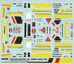 Audi Sport Quattro E2 - Monte Carlo 1986 - Walter Rohrl or Hannu Mikkola - Decal