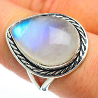Rainbow Moonstone 925 Sterling Silver Ring Size 8.25 Ana Co Jewelry R44842F