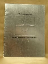 Vtg 1971 Lincoln Continental Mark III Coupe Sedan Brochure Book Specifications