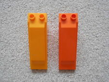 ORANGE SLOPING ROOF BLOCKS/BRICKS lot of spare parts for house LEGO DUPLO