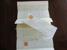 New Listing1865 Ohio Blind Institution Heyl,McCullough,Brooks,St ern,Stamps,document lot!