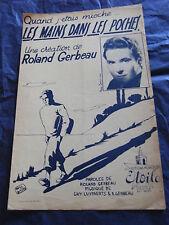 Partition Les Mains dans les poches Roland Gerbeau  Music Sheet