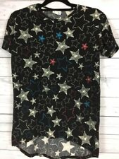 LuLaRoe Girls 14 Short Sleeve High Low Hem Star Shirt Great w Leggings