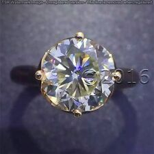 3.05 CT Off White Yellow Moissanite Ring Engagement Ring .925 Silver Ring P00