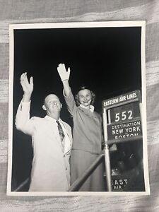 Vintage Eastern Airlines Photograph Flight 552 New York Boston 1958 8x10 Read