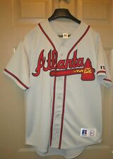 Vtg. 90's Russell Athletics MLB Atlanta Braves Baseball Gray Jersey Mens M Sewn