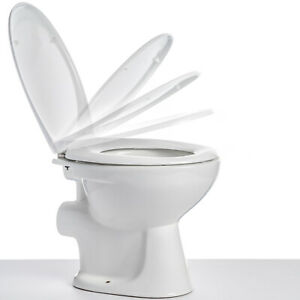 Toilet Seat Soft Close Easy Release for Quick Clean Anti Bacterial Standard Size
