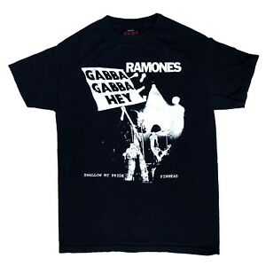 70s 80s New York Punk Ramones Gabba Gabba Hey Pinhead Mens Black T Shirt Size S