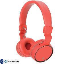 Pro Rojo Inalámbrico/BLUETOOTH PLEGABLES AURICULARES – Micrófono FM / SD JUEGOS