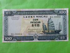 Macau BNU 100 patacas 1999 (PERFECT UNC) MA 58034