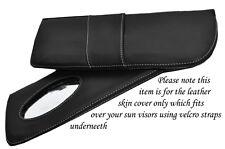 Surpiqûres blanches fits LOTUS EXCEL 83-91 2x pare-soleil cuir couvre uniquement