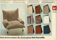 Publicité Advertising 1973 (Double page)  MOBILIER DE FRANCE magasin de meuble .