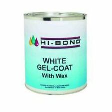 Evercoat Hi-Bond White Gelcoat with wax Quart Boat Fiberglass Repair Gel 701490