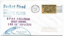 1970 Wallops Island ROCKET FIRED O F O-A 2 Bullfrog Scout WFF Goddard Base NASA