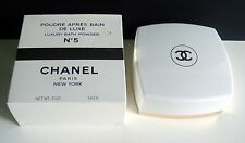 VINTAGE CHANEL No 5 PERFUMED BATH POWDER - 5 OZ - NEVER USED-IN ORIGINAL BOX-WOW