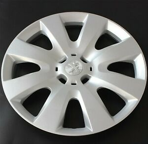 Silver Wheel Covers 15'' Cap Hub For Peugeot