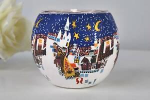 Leuchtglas 21807 Wintermärchen 11cm Teelichthalter Windlicht Kerzenfarm