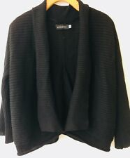 GIORDANO/LADIES FAB LINEN/COTTON RIBBED KNIT CARDY/TOP, SZ 10-12, RRP$79.95!