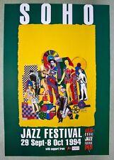 ORIGINAL POP ART POSTER - SOHO JAZZ FESTIVAL 1994 - EDUARDO PAOLOZZI COLLAGE.
