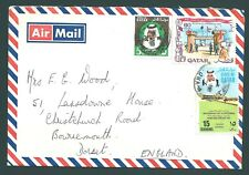 QATAR 1976 multi-franking cover to Bournemouth