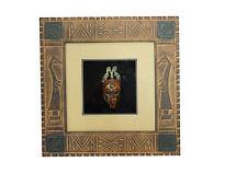 Wandbild Bild mit Holzmaske Südamerika Maske Deko Holzrahmen 30x30cm Art.04