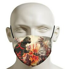 Godzilla Battle Face Mask 3D printed cotton polyester