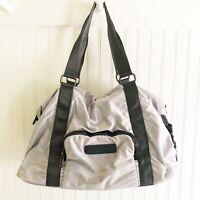 Fabletics Gym Duffel Bag Heather Gray Zipper School Sports