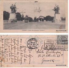 # TORINO: PONTE MONUMENTALE UMBERTO I - minicard  1920