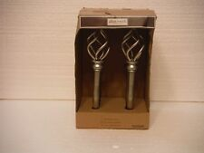 Allen + Roth Brushed Nickel Holdback Pair Open Twists New In Box
