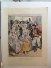 1902 Puck Magazine Print by GORDON H. GRANT Masquerade Pary w/ Clown & Pirate