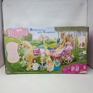 Vintage 2002 Rapunzel Barbie Botticelli Horse & Carriage Sealed in Box