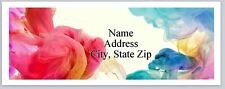 30 Personalized Address Labels Color Smoke Swirls Buy 3 Get 1 free (P 314)