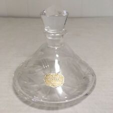 Rare Echt Blei Kristall Crystal Etched Perfume Bottle with stopper German Glass