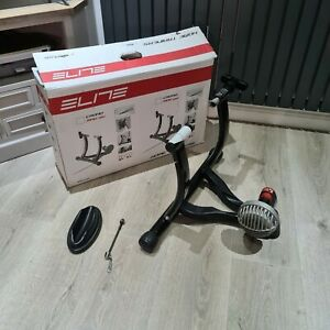 Elite Crono Fluid Bike Trainer + Wheel Brace