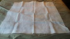 vintage white hand crocheted table cloth linen 35 x 34 ""