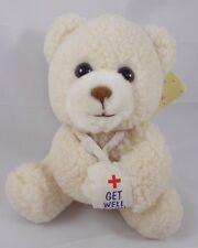 "Russ Luv Pets Bear Plush GET WELL SOON Teddy 5.5"""