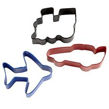**WILTON**     Transportation Cookie Cutter Set - Train, Plane and Racing Car!