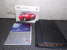 Mitsubishi Colt CZ3 CZT Set Of Owners Hand Books From A 2005 Model