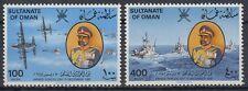 Omán 1981 ** mi.225/26 ejército Army aviones barcos Aeroplane Ships