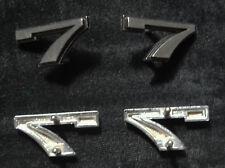 1960s AMC Rambler Classic 770 ~ Sides / Front ~ emblem Numeral 7 Chrome / Black