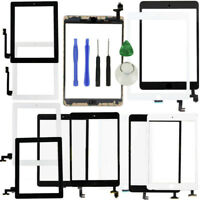 For iPad 2 3 4 5 air1 Touch Screen Glass Digitizer Adhesive+Home Button Assembly
