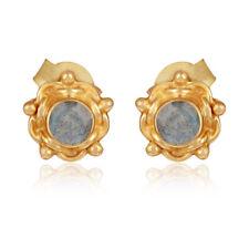 Classic Designer 925 Silver Labradorite Gemstone Stud Earrings Jewelry