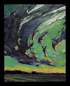HAWKINS Sky Clouds LandscapePlein Air Artist Palette Knife Painting Art Original