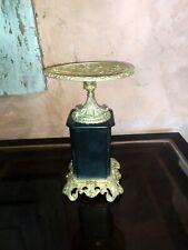 Belle coupe cassolette en bronze et marbre XIXème Singe Oiseaux Fleurs