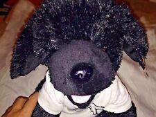 TEDDY MOUNTAIN BLACK PUPPY DOG White Shirt STUFFED ANIMAL PLUSH TOY 13'