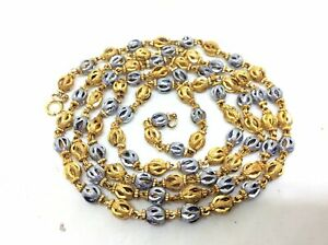Superb Vintage 14k Gold Filled Two Tone Long Necklace Chain