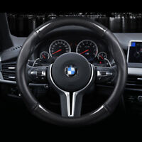 """Universal Size M 38cm15"""" Carbon Fiber Car Steering Wheel Cover For BMW Series"""
